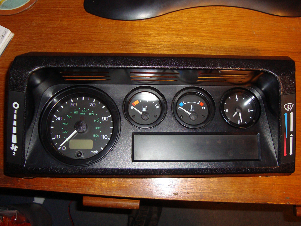 The new dash in all it's electronic glory