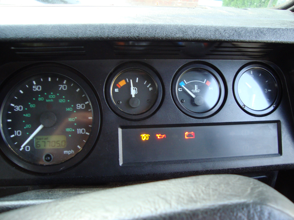 Installing A Defender Td5 Instrument Pack Into 200tdi 300tdi 1995 90 Steering Linkage Diagram Warning Lights Shown Working On Ignition Switch