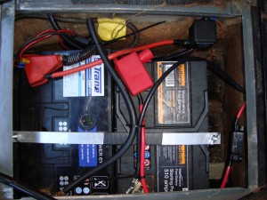 Inside the battery box