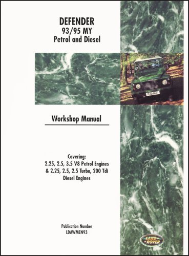 defender workshop manual 1993 edition land rover technical blog not